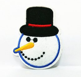 Wholesales 10 Pieces Halloween Snowman (6.5 cm x 8 cm) Kids Patch Embroidered Applique Iron on Patch (ALS)