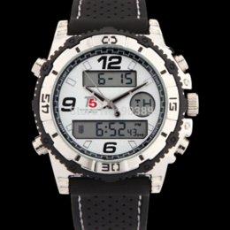 montres sport T5 mode militaire de marque des hommes de luxe Quartz casual Montre LED Dual Time numérique analogique bracelet caoutchouc montres-bracelets à partir de double t5 fabricateur