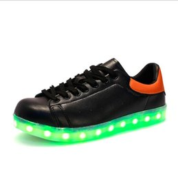 New LED Shoes Men Causal LED luminous shoes lovers fashion women USB Charge light up shoes for adults glowing men shoes 35-45