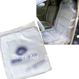 Wholesale 10 Auto Car Repair Service Disposable Plastic Seat Covers seat leon car radio cover steering wheel leather
