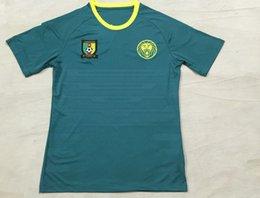 Wholesale 2016 Cameroon Home Green Soccer Jersey Cameroun Football Shirt Eto o Rigobert Song Alexandre Moting M Bia camiseta de fútbol Thailand