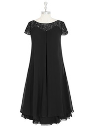 Chiffon & Lace Mother of the Bride Groom Dresses Scoop Nevk Knee-Length With Ruffle Sequins Cheap Mothers Dresses #DL30001