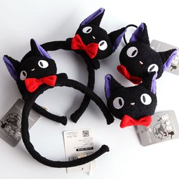 Wholesale 3 styles kiki s delivery service cartoon female curtilage Black cat gigi female hair hoop hair rope fluffy hair bands