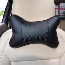 Nueva 2 / PC PU reposacabezas de cuero almohadilla del cuello del coche automático de asiento cubierta de la cabeza del resto del cuello del amortiguador de apoyo para la cabeza de la almohadilla desde cojines reposacabezas de cuero fabricantes