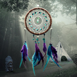 Wholesale Antique Imitation Enchanted Forest Dreamcatcher Gift Handmade Dream Catcher Net With Feathers Wall Hanging Decoration Ornament