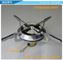 2016 New Portable Outdoor Stove Head Hiking Camping Stove Head Foldable Gas Furnace Head Electronic Ignition