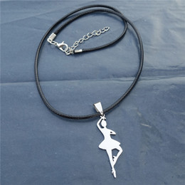 Wholesale 12pcs New Hot Sale Fashion Women Stainless Steel Ballet Dancer Pendant Necklace Jewelry For Girls