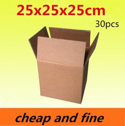 25x25x25cm 30pcs High quality wholesale kraft paper boxes Thicken three floor corrugated kraft packaging gift,cosmetics caisses