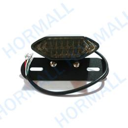Wholesale LED Motorcycle tail light License Plate holder Mount in1 Brake Tail Light For ATV DIRT bike Chopper