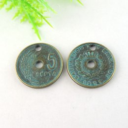 30pcs Antique Bronze Coin Charm Pendant Jewellry Finding 18*18*2mm jewelry making
