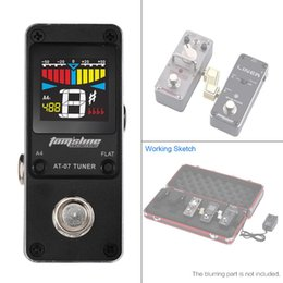 Wholesale AROMA AT Mini Pedal Tuner Bypass Function Fast and Accurate Chromatic Tuning for Guitar Pedal with Compact Metal Structure