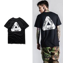 Wholesale 2016 palace skateboards classic triangle print mens hip hop summer noah clothing gosha rubchinskiy cotton swag tshirt tee S XXXL