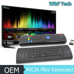 Mini Wireless Keyboard 2.4Ghz Flying Air Mouse MX3A Remote Control Mini Keyboard For Android Box TV Stick PC