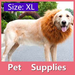 Wholesale 4Size Pet Dog Cat Lion Wigs Mane Hair Festival Party Fancy Dress Clothes Costume Halloween Costume