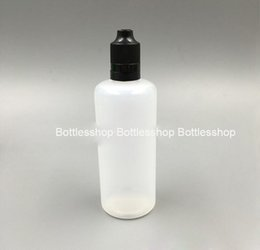 Soft Style PE plastic container 120ml eliquid e juice bottle with childproof tamper evident cap for cigarette