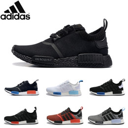Wholesale Adidas Originals NMD R1 Primeknit PK Perfect Authentic Running Sneakers Fashion Running Shoes NMD Runner Primeknit Sneakers With BOX