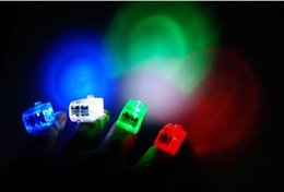 2016 laser conduit doigts 4 couleurs LED Finger lampe LED Finger Ring lumières Glow laser Finger Beams LED clignotant Ring Party Flash Kid Toys budget laser conduit doigts