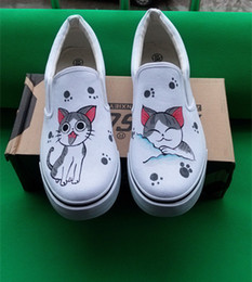 Cartoon CAT Fashion OutdoorUnisexSneakers Canvas Shoes hand-painted Chi's Sweet Home