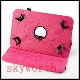 Soportar pulgadas en venta-Universal 360 para el caso giratorio 7 8 9 10 pulgadas de la tableta Galaxy S2 pestaña MID 7.0 T710 T810 T560 T377 soporte de iPad