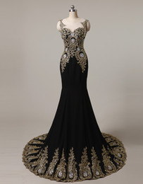 Wholesale Satin Beaded Long Formal Dress - New Black Blue Long Lace Mermaid Formal Evening Dresses Scoop Crystal Lace Up Pageant Prom Party Gown Stock Q15