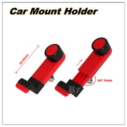 Wholesale Universal Car Air Vent Mobile Phone Holder Degree Rotating for iPhone S Plus Samsung S6 Phone accessories