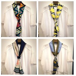 Wholesale Scarves Korea - Spring and summer scarf small scarf lady scarves Korea Occupational decorative fashion wild long scarf tie