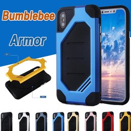 Bumblebee Hybrid Plastic Frame + TPU Cover Rubber Armor Case Double Layer Drop Protection Shockproof Slim Cover For iPhone X 8 7 Plus 6 6S