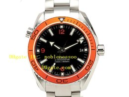 Top quality Luxury MENS New Black Dial 2208.50.00 Orange Bezel Professional CO-AXIAL Wristwatch Luxury Mens Watch Men's Watches