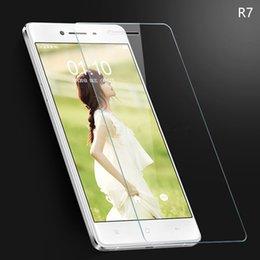 Promotion oppo chinois Oppo R7 HD Clear protecteur d'écran en verre trempé 2.5D Round Edge Protecteur d'écran pour les marques chinoises pour Iphone pour Samsung galaxie - YH0144