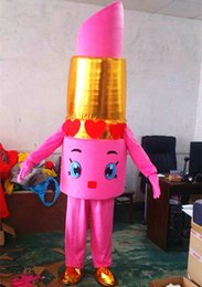 Wholesale Costume Woman Mascot - 2016 New Style Mascot Costume Lovely lipstick for Party and Commercial Activities Free Shipping
