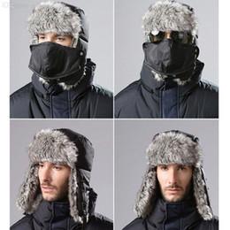 2017 sombreros trampero Al por mayor-invierno de los hombres Trapper aviador Trooper con orejeras gorra de esquí caliente con la máscara de la venta caliente sombreros trampero promoción