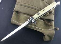 Wholesale 2016 NEWER Italy AKC inch AB Ivory fiberglass handle pocket knife folding knife camping knife freeshipping
