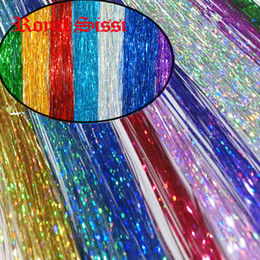 Wholesale 10Packs mix colors Flashabou Tinsel colorful Flat Glittering Crystal Flash Tinsel Fly Fishing lure herl baits Fly Tying material