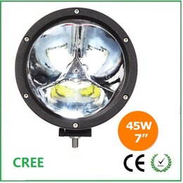Wholesale 7 inch w Led Work Light driving light For Jeep Truck Agricultural Machine Heavy Duty Boat Marine Round frame