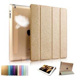 Acheter en ligne Air en cuir libre-IPad2 Housse en cuir Flip pour iPad Air 2 3 4 Ultra-mince universelle colorée avec support DHL Livraison gratuite