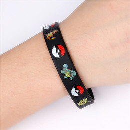 Wholesale Poke go Silicone Bracelets Pocket Monster Wristband Soft poke ball Wrist band Straps Figures Kids Toys Kids christmas cosplay Gift