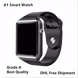Wholesale 2016 New A1 Bluetooth Smart Watch Wrist Watch Men Sport Watch For Android iPhone MP Camera SIM TF Card Slot Mah Battery