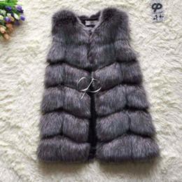 2017 women s faux fur vest CP Marca Faux Fur Vest Inverno quente longo Mulheres Faux Fox Fur Vest Furry Slim Mulher Fake Fur Vest Plus Size Fur Vests Alta Qualidade women s faux fur vest à venda