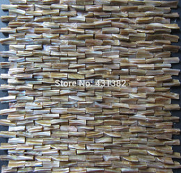 Wholesale D mother of pearl tile Decorative shell mosaics stiffened backsplash tile kitchen bathroom wall designs ideas tile