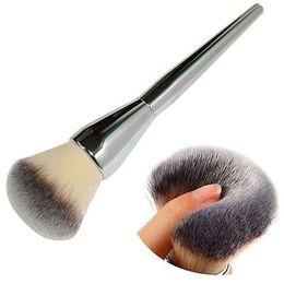 Wholesale Very Big Beauty Powder Brush Blush Foundation Round Make Up Tool Large Cosmetics Aluminum Brushes Soft Face Makeup