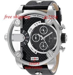 Wholesale New The Daddies Chronograph Black Leather Watch