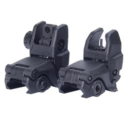Wholesale 2016 Real Airsoftsports Gun Ipsc Airsoftsports Back up Sight Gen Front And Rear Folding Sights for Airsoft Accessories Bk De