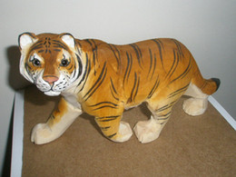 Chinese wood carving tiger traditional hand-crafted