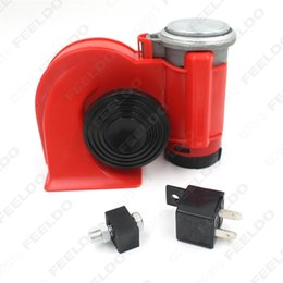 Wholesale Red Twin Dual Tone Compact Air Loud Horn V V db Compressor for Truck Car Bus Van