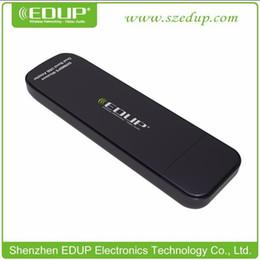 Carte intégrée en Ligne-2017 EDUP Adaptateur USB 300Mbps Carte réseau sans fil Wifi 2.4G / 5.8G double bande IEEE802.11n PCB antenne intégrée EP-DB1301 Vente en gros