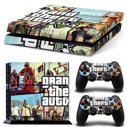 Cool Grant Theft Auto Style Vinyl Decal PS4 Skin Sticker full Set Console Skin+2 Controller Protective Skin Stickers