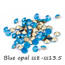Mini Crystal Rhinestones For Nails Art Decoration ss8-ss13.5 Round Pointback Glass Stones Strass Beads DIY Wedding Clothes