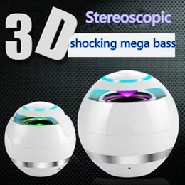 3D subwoofer bluetooth speaker the ball design speaker with led portable amplifier wireless Active outdoor mobile speaker home stereo system