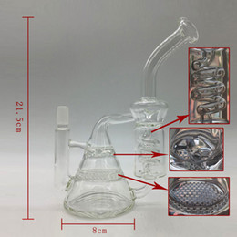 Wholesale freezable coil system transparency recycle glass water pipe mini oil rigs glass bongs beaker bong pipes smoke pan
