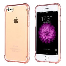 Wholesale iPhone clear case Ultra Hybrid Crystal Clear Air Cushion bubble protection transparent TPU bumper case cover for iPhone S S Plus